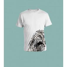 T-skjorte tegning nede