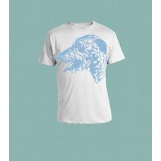 T-Skjorte Lyst blått ulvehund-hode